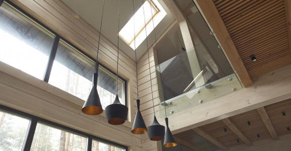 屋外や吹き抜けなどの照明プラン